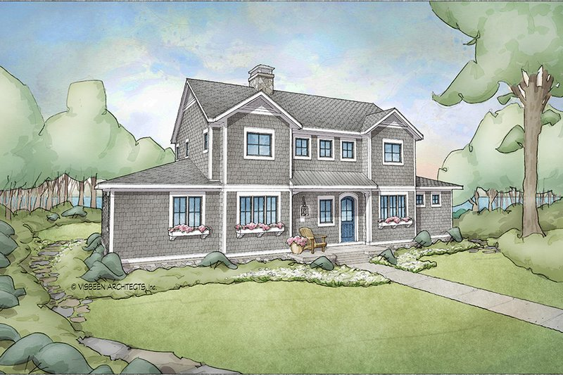 Cottage Style House Plan - 4 Beds 3.5 Baths 2740 Sq/Ft Plan #928-302 Exterior - Front Elevation