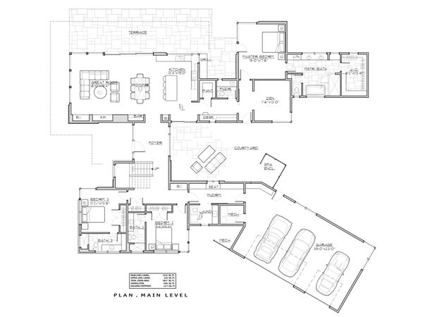Modern Floor Plan - Main Floor Plan Plan #892-32