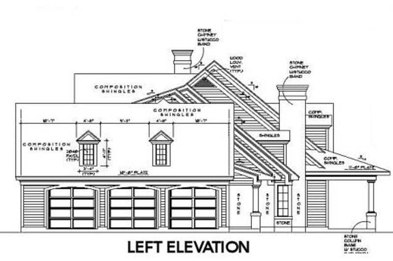 Colonial Exterior - Other Elevation Plan #61-387 - Houseplans.com
