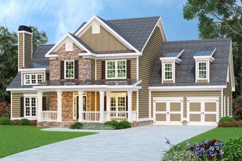 Craftsman Exterior - Front Elevation Plan #419-137