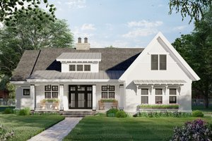 House Blueprint - Farmhouse Exterior - Front Elevation Plan #51-1169