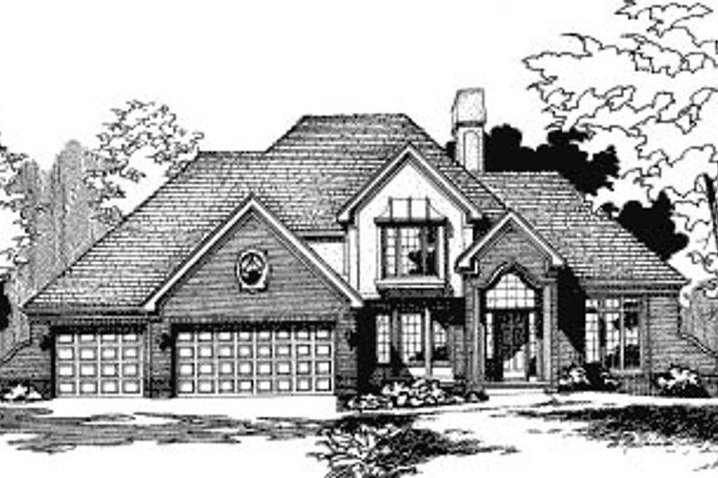 Traditional Exterior - Front Elevation Plan #20-288 - Houseplans.com