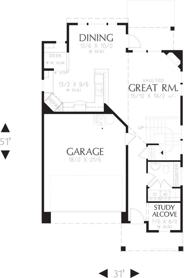 Country Floor Plan - Main Floor Plan Plan #48-630