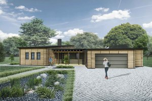 Modern Exterior - Front Elevation Plan #924-4