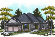 European Exterior - Front Elevation Plan #70-860