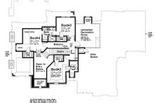 House Plan Design - European Exterior - Rear Elevation Plan #310-1297
