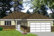 Ranch Style House Plan - 2 Beds 2 Baths 970 Sq/Ft Plan #116-151 Exterior - Front Elevation