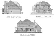 Craftsman Style House Plan - 4 Beds 2.5 Baths 2846 Sq/Ft Plan #138-111 Exterior - Rear Elevation
