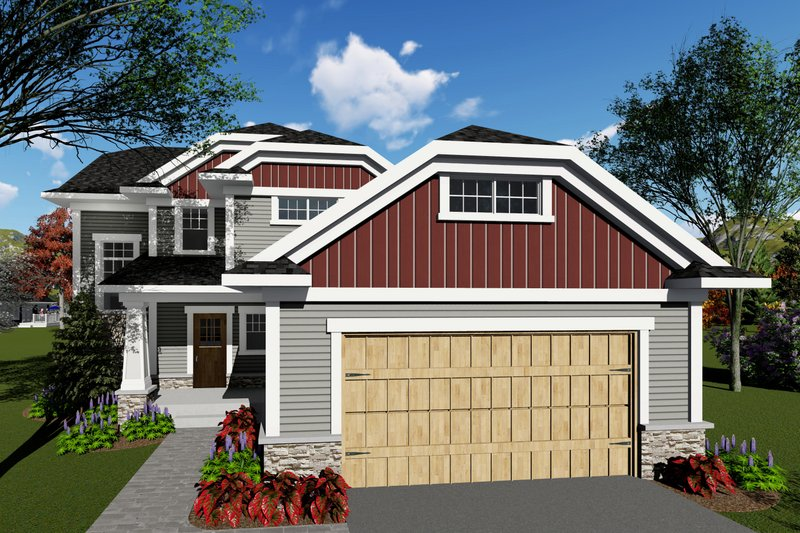 Architectural House Design - Craftsman Exterior - Front Elevation Plan #70-1415