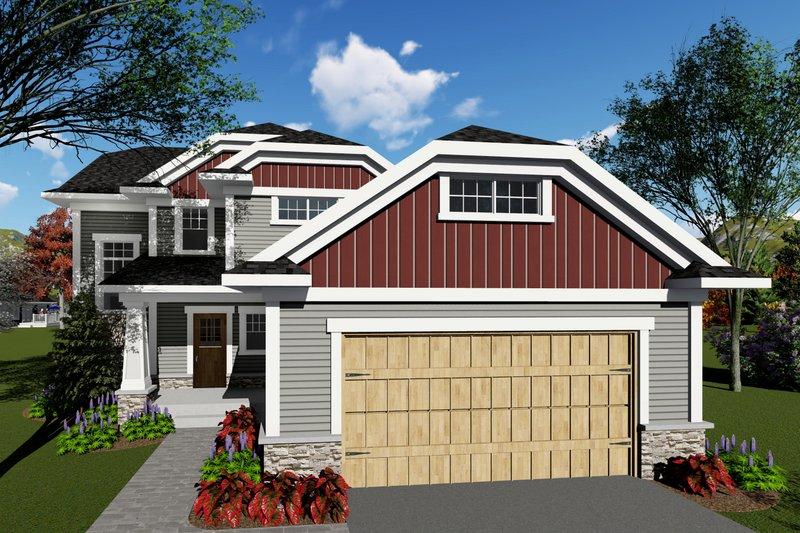 Craftsman Exterior - Front Elevation Plan #70-1415