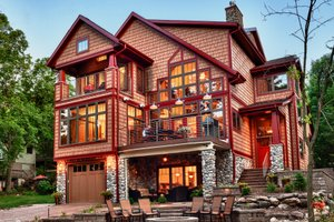 Home Plan - Craftsman Exterior - Rear Elevation Plan #70-1433