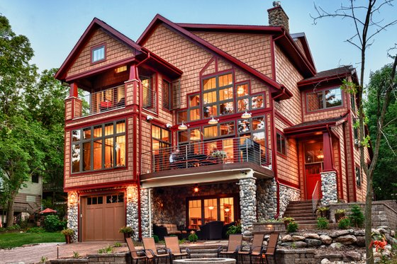Dream House Plan - Craftsman Exterior - Rear Elevation Plan #70-1433