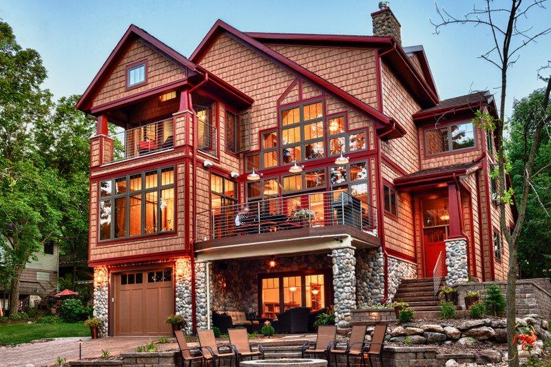 Dream House Plan - Craftsman Exterior - Rear Elevation Plan #70-1433