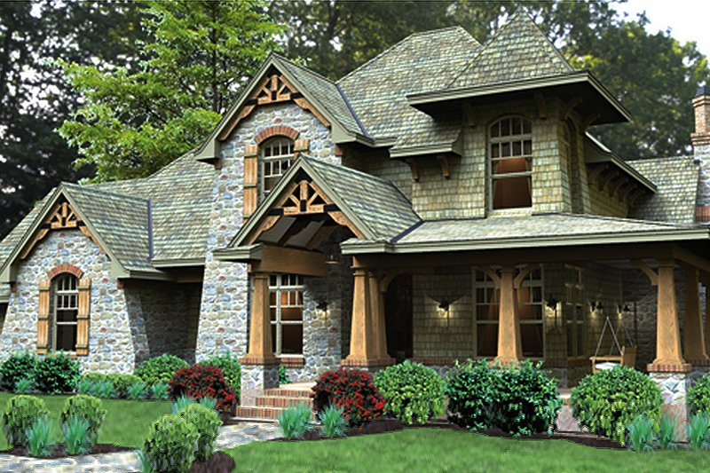 Craftsman Exterior - Front Elevation Plan #120-247 - Houseplans.com