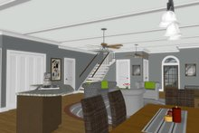 Architectural House Design - Modern Interior - Dining Room Plan #56-723