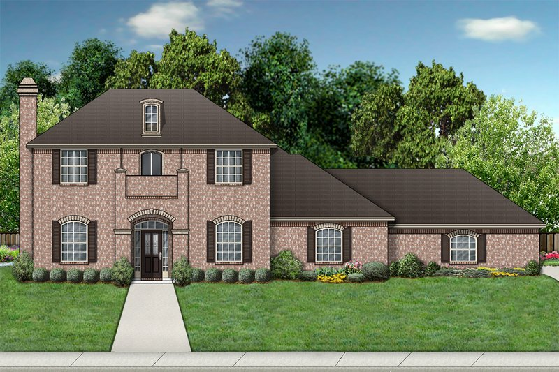 Traditional Exterior - Front Elevation Plan #84-389 - Houseplans.com