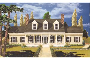 Country Exterior - Front Elevation Plan #3-340