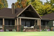 Craftsman Style House Plan - 3 Beds 2 Baths 3445 Sq/Ft Plan #63-423 Exterior - Rear Elevation