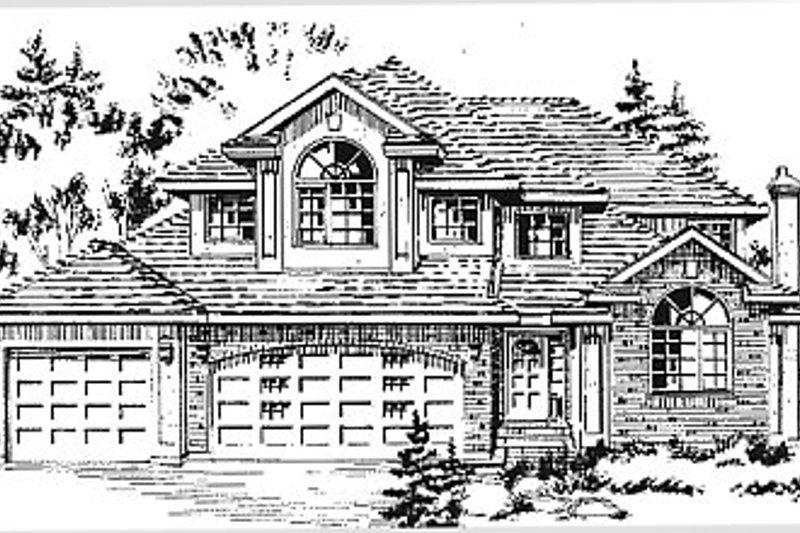 House Blueprint - European Exterior - Front Elevation Plan #18-241