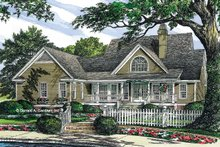 Dream House Plan - Country Exterior - Rear Elevation Plan #929-225