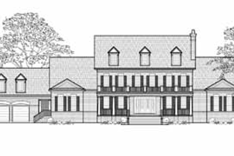 Country Exterior - Front Elevation Plan #61-195