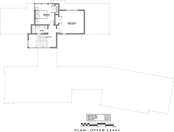 Contemporary Floor Plan - Upper Floor Plan Plan #892-23