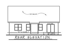 Dream House Plan - Cottage Exterior - Rear Elevation Plan #20-2399