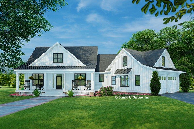 Architectural House Design - Farmhouse Exterior - Front Elevation Plan #929-1054
