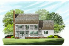 Southern Exterior - Rear Elevation Plan #137-146