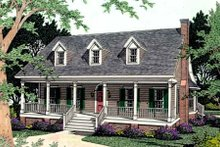Southern Exterior - Front Elevation Plan #406-158
