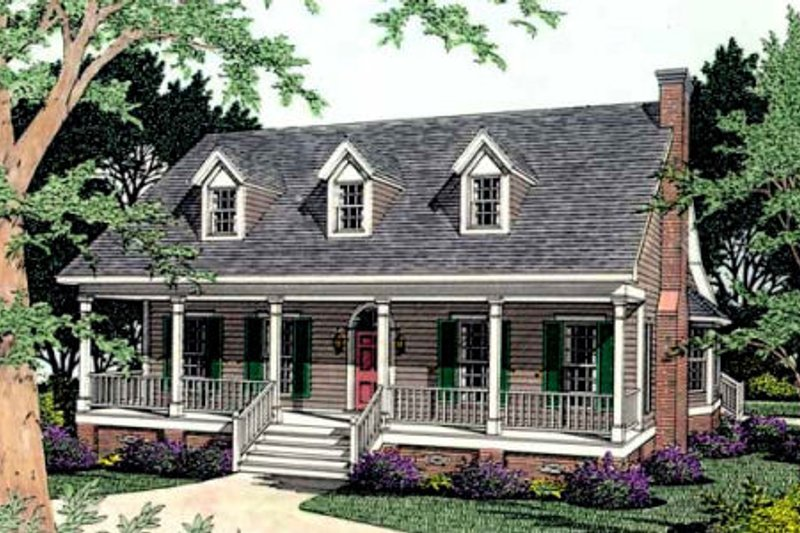 Southern Style House Plan - 3 Beds 2 Baths 1879 Sq/Ft Plan #406-158 Exterior - Front Elevation