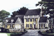 Southern Style House Plan - 4 Beds 3 Baths 3233 Sq/Ft Plan #137-162 Exterior - Front Elevation