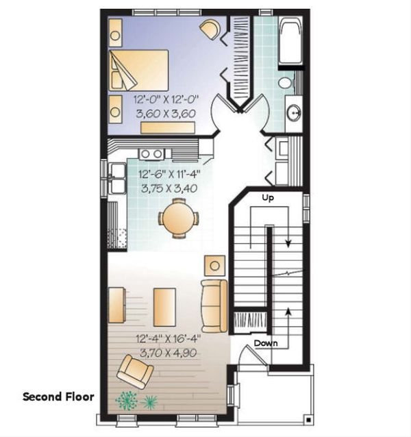 European Floor Plan - Upper Floor Plan Plan #23-2152