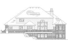 Home Plan - European Exterior - Rear Elevation Plan #5-382