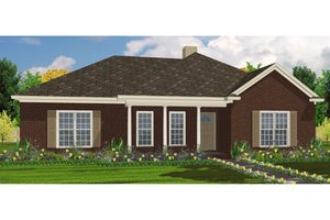 Traditional Exterior - Front Elevation Plan #63-219