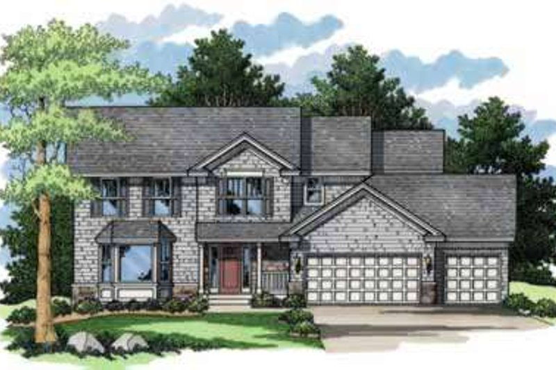 Traditional Style House Plan - 4 Beds 2.5 Baths 2219 Sq/Ft Plan #51-220 Exterior - Front Elevation