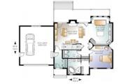 Craftsman Style House Plan - 3 Beds 2.5 Baths 1816 Sq/Ft Plan #23-2485 Floor Plan - Main Floor Plan