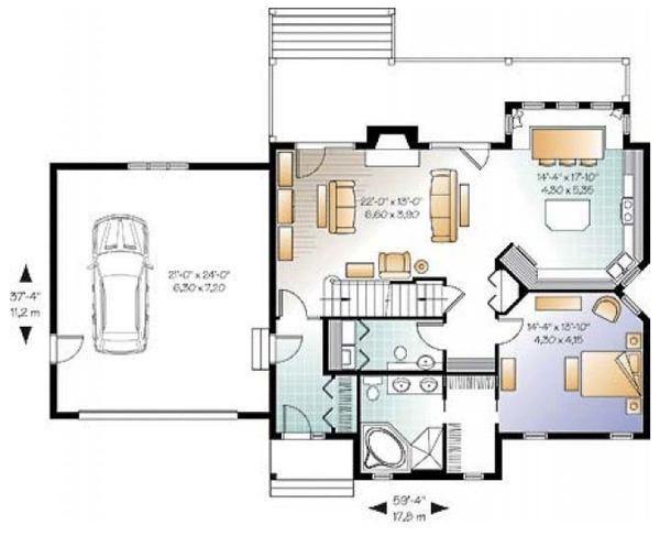 Craftsman Floor Plan - Main Floor Plan Plan #23-2485