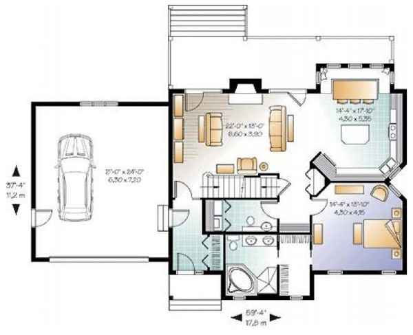 Craftsman Floor Plan - Main Floor Plan Plan #23-2485