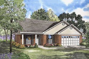 Traditional Exterior - Front Elevation Plan #17-582