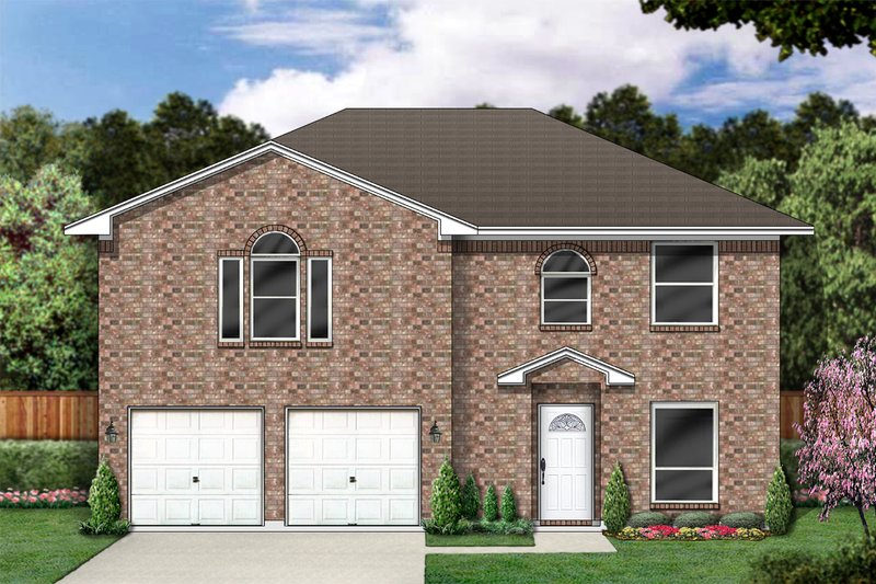 Traditional Exterior - Front Elevation Plan #84-360 - Houseplans.com