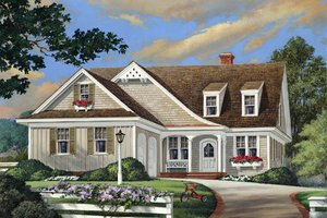 Cottage Exterior - Front Elevation Plan #137-260