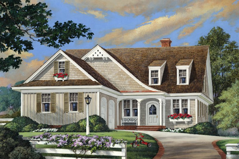 Cottage Exterior - Front Elevation Plan #137-260 - Houseplans.com