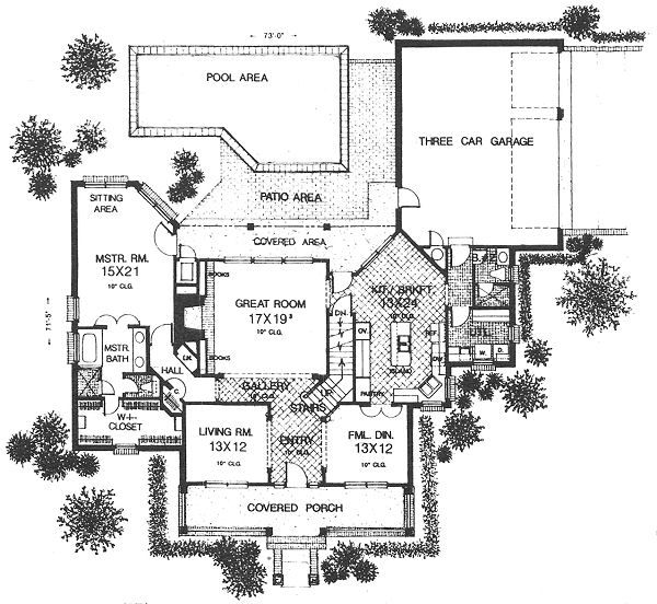 Farmhouse Floor Plan - Main Floor Plan Plan #310-625