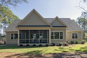 European Style House Plan - 4 Beds 3 Baths 2195 Sq/Ft Plan #929-958 Exterior - Rear Elevation