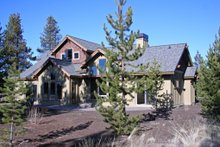 House Design - Craftsman style home design, rear elevation photo