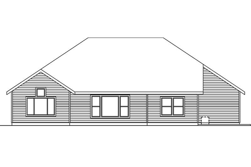 Craftsman Exterior - Rear Elevation Plan #124-563 - Houseplans.com