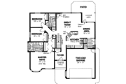 Ranch Style House Plan - 3 Beds 2 Baths 1522 Sq/Ft Plan #18-1020 Floor Plan - Main Floor