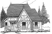 Tudor Style House Plan - 2 Beds 1 Baths 922 Sq/Ft Plan #43-103 Exterior - Front Elevation
