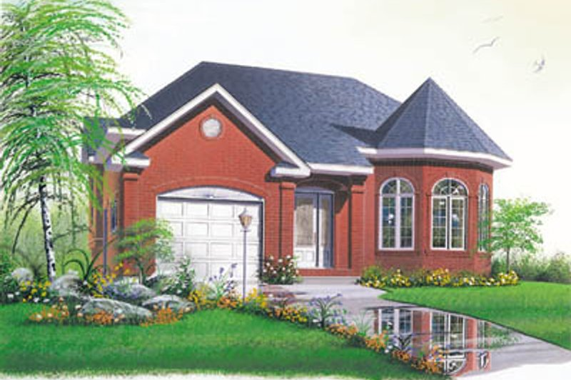 Traditional Style House Plan - 2 Beds 1 Baths 1196 Sq/Ft Plan #23-147 Exterior - Front Elevation